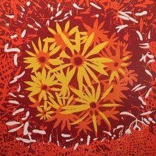 Bloom - var. 72, 1/1, woodcut, 3'x3'
