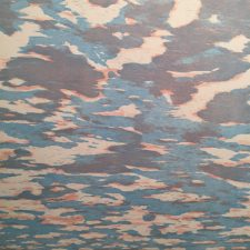Clouds - var. 42, 1/1, woodcut, 3'x3'
