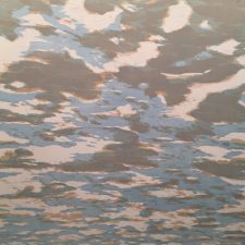 Clouds - var. 52, 1/1, woodcut, 3'x3'