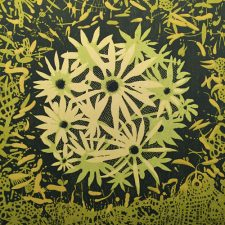 Spring Bloom, 4/4, woodcut, 3'x3'
