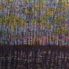 Stream - var. 21, 1/1, woodcut, 3'x3'
