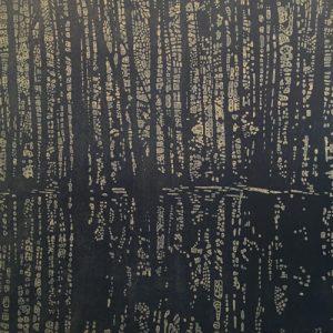 Woodland Landscape IX - var. 4, 1/1 w/ dyed paper