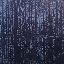 Woodland Landscape IX - var. 7, 1/1, w/ dyed paper, woodcut, 3'x3'