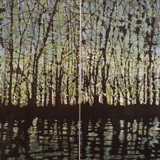 Woodland Landscape VIII Diptych 11, 1/1, woodcut, (2) 3'x3'
