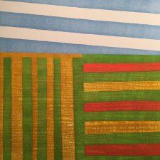 Agrarian - var. 14 (Summer), 1/1, woodcut, 3'x3'