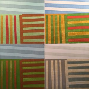 Agrarian Ensemble, (4) woodcuts, 3'x3' each