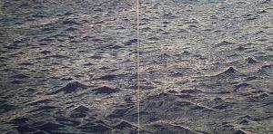 Big Seascape w/ wc Diptych 10, 1/1, woodcut, (2) 3'x3'