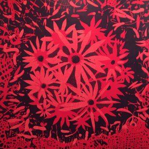 Bloom - var. 13, 1/1, woodcut, 3'x3'