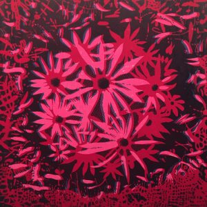 Bloom - var. 61, 1/1, woodcut, 3'x3'