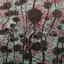Branching Network - var. 1, 1/1, woodcut, 3'x3'