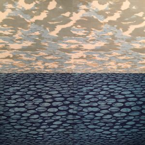 Clouds/Zumscapes Ensemble, (4) woodcuts, 3'x3' each