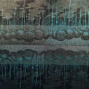 Ensemble - Evolutionary Landscape III, (4) woodcuts, 6'x6'