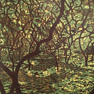 Green Glen, 1/9, woodcut, 3'x3'