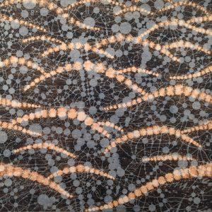 Network - var. 23, 1/1, woodcut rinsed print, 3'x3'