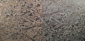 Network - var. 36 & 37, woodcut rinsed prints, (2) 3'x3'