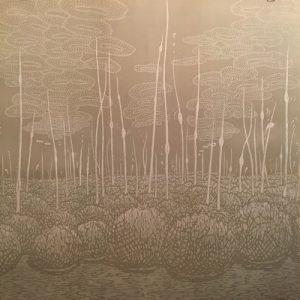 Podscape I, 1/5, woodcut, 3'x3'