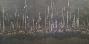 Podscape III Diptych, 1/1, woodcut mounted on Dibond, (2) 3'x3'