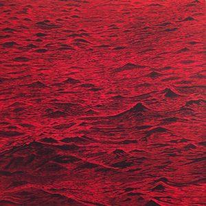 Seascape - var. 14, 1/1, woodcut, 3'x3'