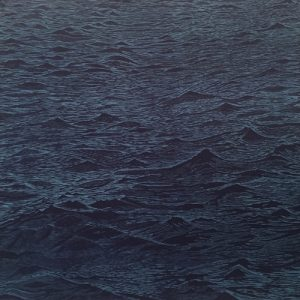 Seascape Diptych 6 (right panel), 1/1, woodcut, (1 of 2) 3'x3'