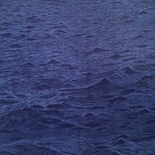 Seascape Diptych 7 (right panel), 1/1, woodcut, (1 of 2) 3'x3'