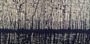 Woodland Landscape VIII - Diptych 5, 1/1, woodcut, (2) 3'x3'