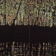 Woodland Reflections I - Diptych, 4/4, woodcut, (2) 3'x3'