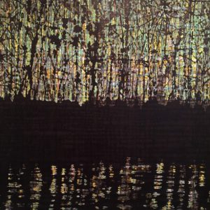 Woodland Refections I Diptych, right, 4/4, woodcut, 3'x3'