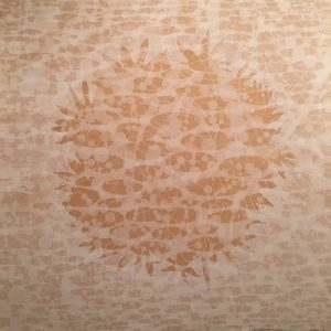 Zum/Bloom - Field, AP, 1/2, woodcut rinsed print, 3'x3'