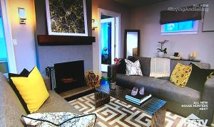 Woodland Skyscape featured in the remodelled living room on Property Brothers